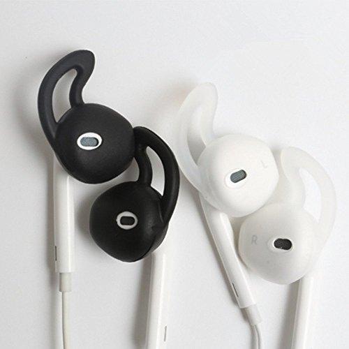 2 paia di cuscinetti per orecchio In Silicone In-Ear Headset cuffie per punte auricolari-Auricolari Earpods iPhone 5s, 6s-Cuffie