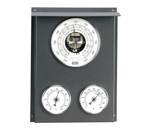 Estación meteorológica náutica, Barómetro y Estación meteorológica exterior interior 32cm. Dispone de 3 relojes termómetro, higrómetro, barómetro.