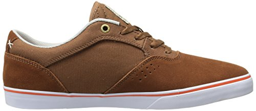 Emerica Herman G6 Vulc, Chaussures de Skateboard homme Marron (Brown/Orange 222)