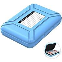 """ORICO Festplattentasche Schutztasche Schutzbox (3.5"""", Blau) - Aufbewahrungstasche für 3,5 Zoll Festplatten Western Digital WD Seagate Toshiba Samsung Intenso"""