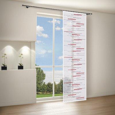 Gardine / Vorhang / Flächenvorhang ZEENA / Schiebevorhang B/H: 60x245cm / Halbtransparente Qualität / Scherli Effekt / rot (Flächenvorhänge Rot)