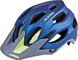 Alpina Erwachsene Carapax Fahrradhelm, Darkblue/Neon, 52-57 cm