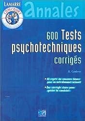 600 tests psychotechniques corrigés