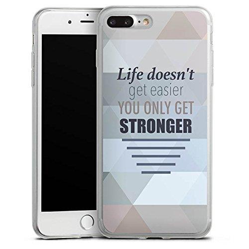 Apple iPhone 8 Plus Slim Case Silikon Hülle Schutzhülle Motivation Workout Sprüche Silikon Slim Case transparent
