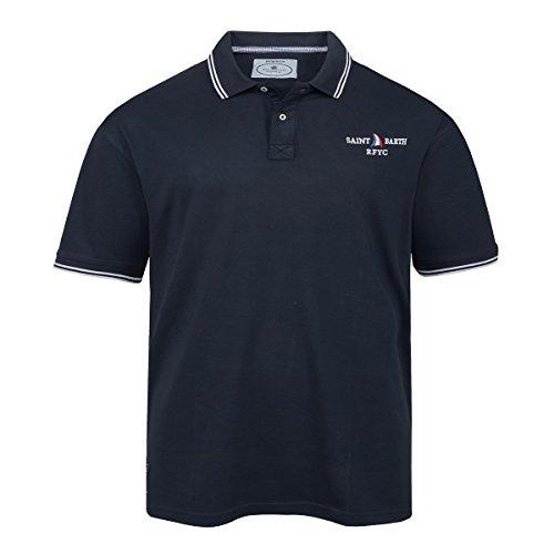 Redfield Kurzarm Poloshirt navy Übergröße modisch Blau