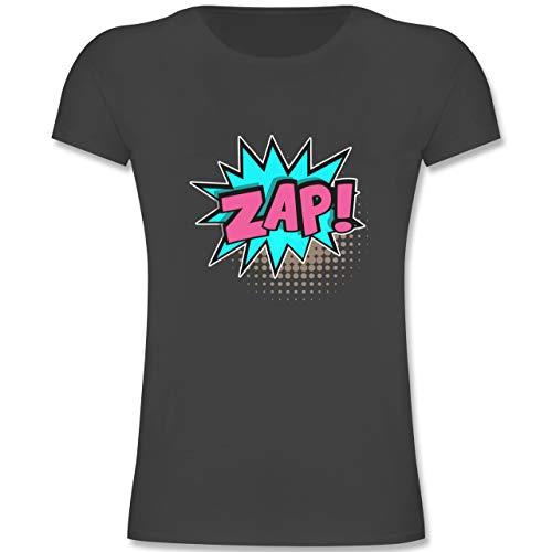 Karneval & Fasching Kinder - Popart Karneval Kostüm ZAP! - 140 (9-11 Jahre) - Anthrazit - F131K - Mädchen Kinder (Pop Art Comic Girl Kostüm)