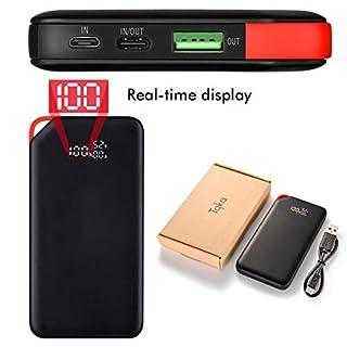 Kreema Tragbare 10000mAh schlanke Schnellladeleistungsbank PD 18W für iPhone Galaxy S9