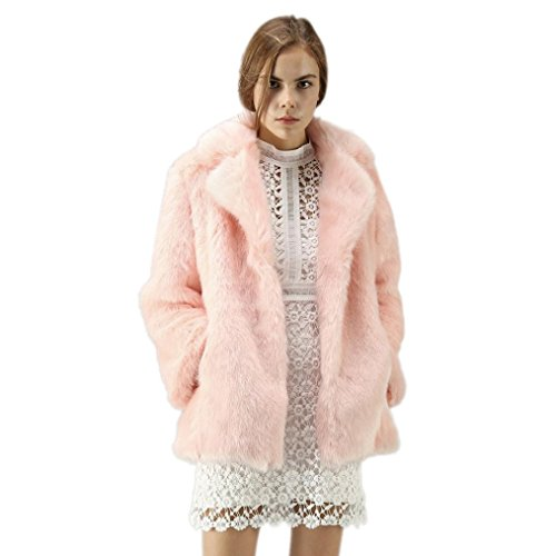 Ladies HOPPJKT Quilted Puffer Winter Coat Faux Fur Collar Hooded Jacket Parka