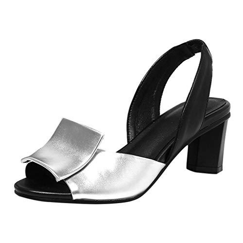 in Vendita! Sandali da Donna con Cinturino alla Caviglia Sandali con Tacco Alto Scarpe Casual Abbinate A Colori Sandali Taglie Forti di Kinlene