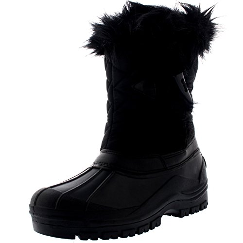 polar-womens-toggle-duck-winter-thermal-rubber-outsole-snow-waterproof-mid-calf-boot-black-uk7-eu40-