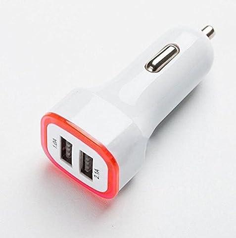 ✨ Net Solutions ✨ Chargeur Voiture 2 Ports, Allume Cigare USB (2.1A + 1.0A) pour iPhone 6S, 6, 6 Plus, Samsung Galaxy, Google Nexus, LG, HTC, Motorola etc.