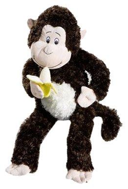 Althans 55016 - Affe mit Banane, braun, 65 cm