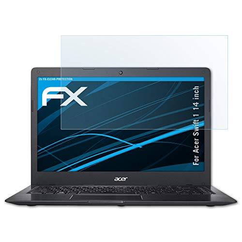 atFolix Schutzfolie kompatibel mit Acer Swift 1 14 inch Folie, ultraklare FX Bildschirmschutzfolie (2X)