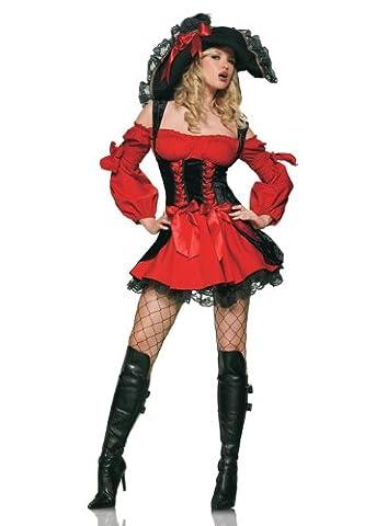 Vixen Piraten-Mädchen- Damen Kostüm S (UK 8-10) (Piraten-mädchen-kostüm Uk)