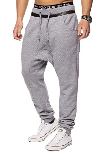 Pantaloni sportivi pantaloni sportivi Grime ID1417 Checked Grigio