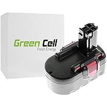 Green Cell® Batería de Herramienta Eléctrica para Bosch PSB 18 VE-2 ( Ni-MH celdas 3Ah 18V )
