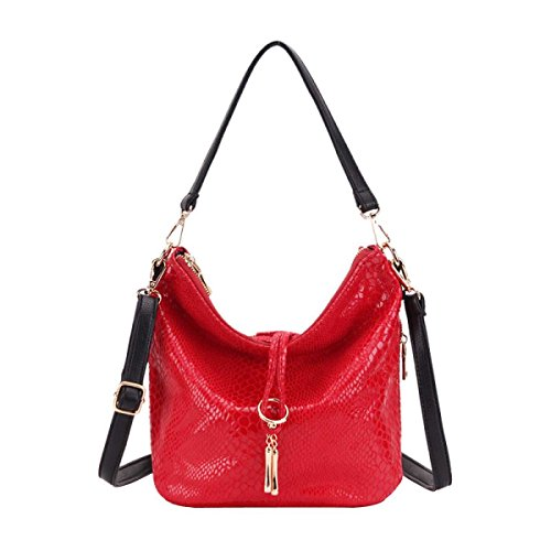 Handtasche Der Frauen Und Weisetroddel Schlange Umhängetasche Red