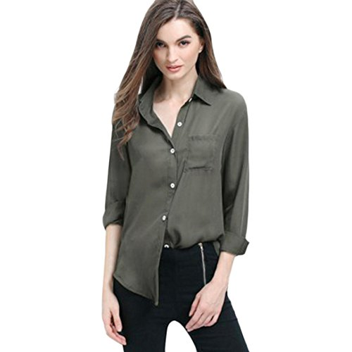ESAILQ Women Cotton Linen Solid Long Sleeve Shirt Casual Loose Blouse Button Down Tops Spring Office New Ladies Top Womens Plus Size Italian Plain Dress Fit Batwing Lagenlook Kimono Irregular Hem Buttons Vintage White/Purple/Dark Blue Oversize Plaid Blouses Sexy V Neck Stripe Shirts Summer Short T Celebmodelook Insert Vest Thin Section Long-Sleeved T-Shirt Pullover