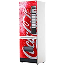 Pegatinas Vinilo para Frigorifico Máquina expendedora Cocacola roja | Varias Medidas 185x60cm | Adhesivo Resistente y
