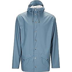 Rains Chaqueta Impermeable Color Azul Large Para Hombre