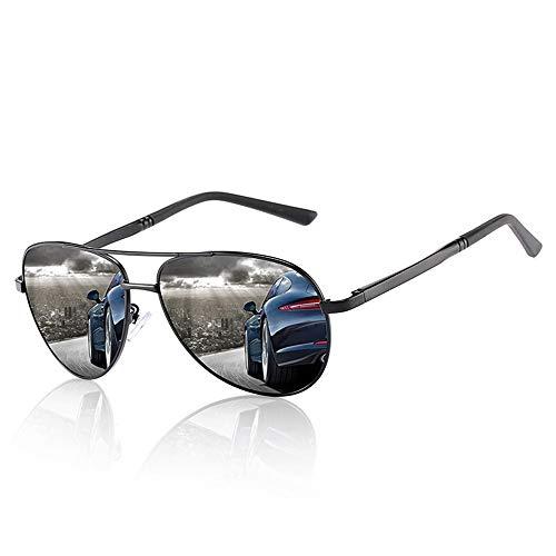 WULE-RYP Polarisierte Sonnenbrille mit UV-Schutz Polarisierte Sonnenbrille der Männer großer Rahmen, der Spiegel fährt. Superleichtes Rahmen-Fischen, das Golf fährt (Farbe : Schwarz)