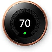 Nest 3rd Generation learning programmable Thermostat Copper T3021US