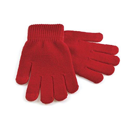 Touchscreen Telefon Handschuhe - Rot, One size (Mädchen Rot Handschuhe)
