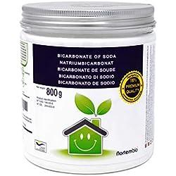 NortemBio Bicarbonato de Sodio 800g, Insumo Ecológico de Origen Natural, Libre de Aluminio, Producto CE.