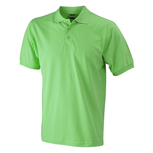 JAMES & NICHOLSON Hochwertiges Polohemd mit Armbündchen lime-green