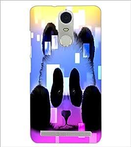 PrintDhaba Panda D-4381 Back Case Cover for LENOVO K5 NOTE (Multi-Coloured)