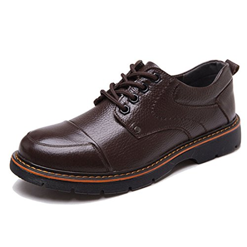 Men's British Style Pu Leather Round Toe Casual Shoes brown