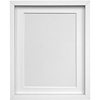 FRAMES BY POST H7 White Picture Photo Frame with White Mount 20\
