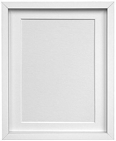 Frames By Post Rio Bilderrahmen Fotorahmen, mit Passepartout A3und A4Bild Größe, weiß, 18mm breit