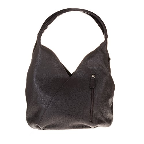 Firenze Artegiani Bolso Shopping Bag de Mujer en Piel auténtica, Acabado Savage, 36 cm, Marrón...