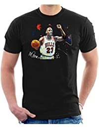 Sidney Maurer Original Portrait of Michael Jordan Chicago Bulls Basketball Mens T-Shirt