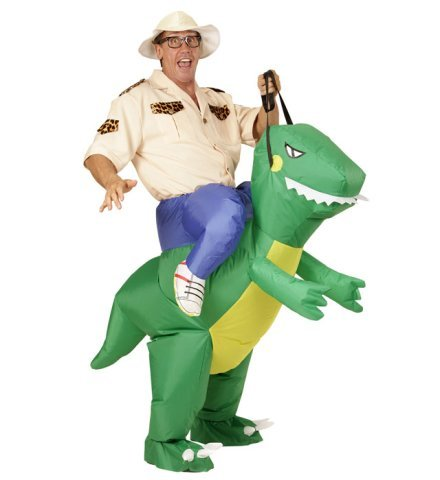 Aufblasbares Carry-me Huckepack Kinder Kostüm Dinosaurier one size