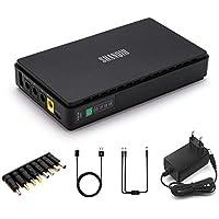 Mini Onduleur Back-UPS Alimentation de Secours pour WiFi, Routeur, Modem, Caméra de Sécurité avec Intégré Batterie 8800mAH Entrée CC ou USB Sortie 5V USB 5V 9V 12V 2A CC