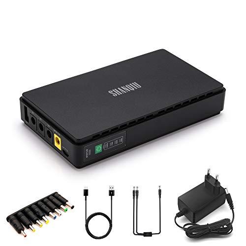 Mini USV Unterbrechungsfreie Stromversorgung für Modem, Router, CCTV, PSP mit Eingebauter Powerbank Batterie 8800mAH Akkupack Eingang 5V USB 12V DC Ausgang 5V 9V 12V 2A DC