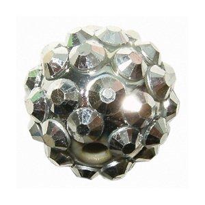 La Fourmi Shamballa Kristall 12 mm Perlen Kunstharz silber-beschichtet