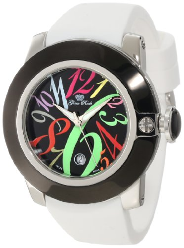 Glam Rock GR32041 - Reloj de Pulsera Mujer, Silicona, Color Blanco