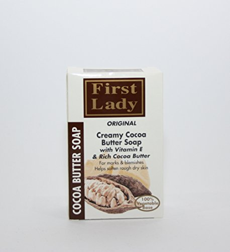 Cocoabutter | Beurre de cacao biologique | | Herbal | Naturel | crémeux Formule | | | Nettoyant Hydratant | Barre de savon 200 g - par la première Dame - pour les vergetures et les imperfections et aide à Adoucir Rough Dry Skin - pour toute la famille - Tous les types de peau