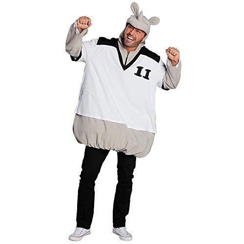 Rubie's Herren Kostüm sportliches Nashorn Rhinozeros Karneval Fasching Gr.XL