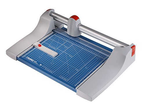 """Dahle 440 Premium Rolling Trimmer, 14-1/8\"""" Cut Length, 30 Sheet Capacity, Self-Sharpening, Automatic Clamp, German Engineered Paper Cutter"""
