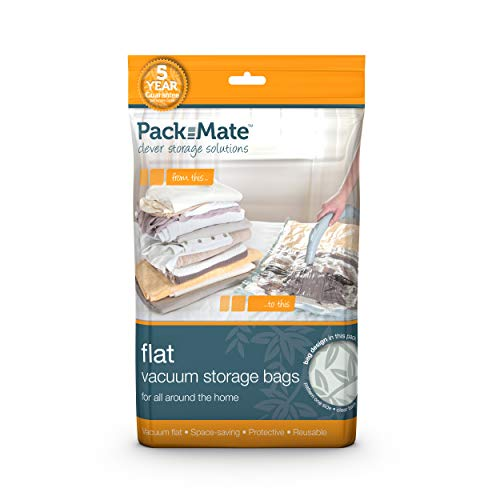 Packmate ® 2 Jumbo-Vakuumbeutel zur platzsparenden Aufbewahrung - für Kleidung, Bettdecken, Bettwäsche u. v. m. - 90 x 110 cm - 2 Stück -