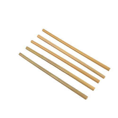 YA-Uzeun Bambus-Strohhalm, wiederverwendbar, natürlich, umweltfreundlich, für Erwachsene, Kinder, Bambus-Strohhalm, 5 Stück -