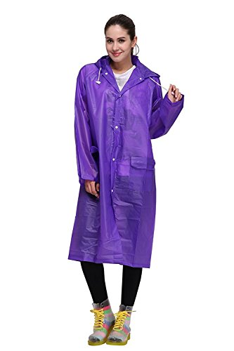 Regenponcho von Outry, Regenjacke Regenmantel, Poncho, Regencape, Rad-Regenponcho, regenponcho fahrrad, regenkleidung für das Fahrrad (L, Lila)