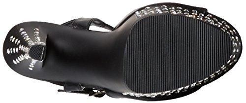 Pleaser masturbateur stardust - 709 sexy-plateau high heels mules en cuir synthétique avec strass 35-41 noir Noir - Matt-Schwarz