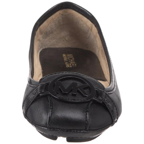 MICHAEL MICHAEL KORS FULTON MOC LEATHER 40T8FUFP2L ballerina in pelle e accessorio in metallo Nero