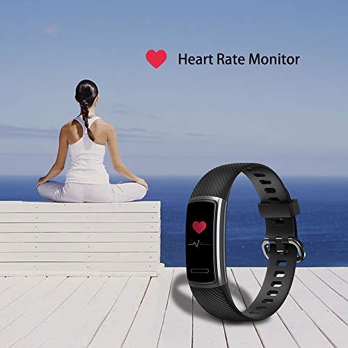 Imagen de abeyete pulsera de actividad reloj inteligente para hombre y mujer ip68 impermeable con 14 modos de deportivo con pulsómetro sueño podómetro calorías pulsera deporte para ios y android negro  alternativa