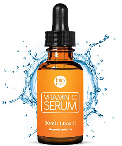 Das beste Vitamin C Serum für Ihr Gesicht mit 20{a9a572fc8e980a79223aeb39bd1247c4e80491005bf5ac97552ccda425353b65} Vitamin C + Hyaluronsäure + Vitamin E + Jojobaöl. Natürliche AntiAging + Anti Falten + Bio Kollagen Booster Gesichtsserum mit organischen Inhaltsstoffen. Ideal für den Einsatz mit einer Derma Roller. (30 ml)